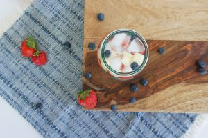 patriotic memorial day 4th of july summer sangria cocktail