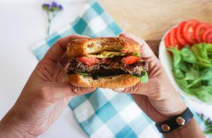 A healthy, delicious, vegetarian Cowboy Black Bean Burger!